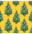 Watercolor Christmas tree pattern vector image vector image