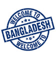 welcome to bangladesh blue stamp vector image vector image