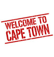 welcome to cape town stamp vector image vector image