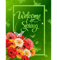 Welcome To Spring Lettering vector image vector image