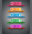 shelf pin clip paper - business infographic vector image