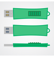 top view of portable flash gadget in green design vector image