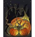 halloween mad pumpkins vector image