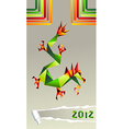 2012 China origami dragon year vector image vector image