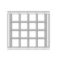 3d realistic steel prison bars vector image vector image