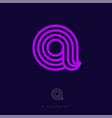 a letter monogram thin lines violet web ui icon vector image
