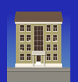 a multi-storey residential building made of beige vector image vector image