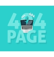 Abstract 404 error page vector image vector image