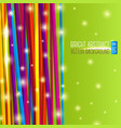 Abstract bright background with colorful laces and vector image vector image