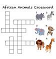 african animals crossword background vector image