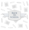 Back to School greeting Badge vector image