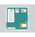 Bathroom with furniture vector image vector image