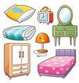 bedroom element vector image