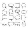 big set picture blank template comic text speech vector image