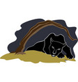black panther under the tree eps10 vector image vector image