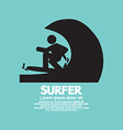 Black Symbol Surfer vector image