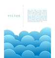 Blue abstract clouds vector image vector image