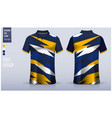blue polo shirt mockup template design vector image