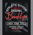 brooklyn nyc typography design varsity vector image vector image