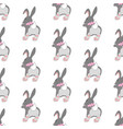 bunny seamless pattern vector image vector image