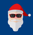 cartoon stylish santa claus face vector image vector image