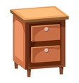 Chest of drawers icon cartoon style vector image vector image