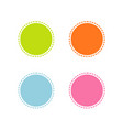collection of colorful stitched circle shape vector image vector image