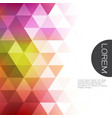 colorful transparency and fade triangle vector image vector image