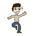 comic cartoon terrified man with eyes popping out vector image vector image