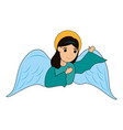 cute angel cartoon vector image vector image