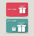 Design gift card vector image vector image