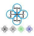 drone screws flat icon vector image vector image