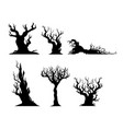 dry trees vector image