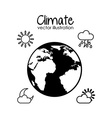 earth planet climate design vector image vector image