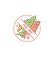 fish free label for food allergy circle icon for vector image vector image