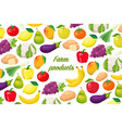 flyer with fruits and vegetables vector image vector image