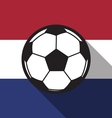 football icon with Netherlands flag vector image vector image