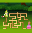 game frog prince maze find way to princess vector image vector image