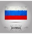 geometric polygonal Russia flag vector image vector image