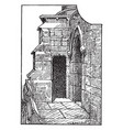 gothic watch tower doorway at lincoln castle vector image vector image