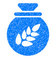 grain harvest sack icon grunge watermark vector image