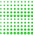 Green deformed polygon shape collection vector image vector image