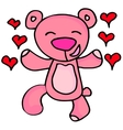 Happy bear character valentine days vector image vector image