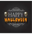 happy halloween halloween emblem with vector image vector image