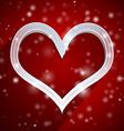 Heart applique background vector image