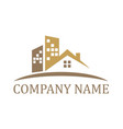 house company logo vector image vector image