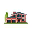 house facade with garage residential low-rise vector image