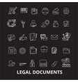 legal documents editable line icons set on vector image vector image