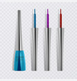 liquid eyeliners set of bright colorful eyeliners vector image