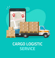 logistic cargo courier or freight delivery service vector image